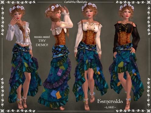 Gypsy Esmeralda Outfit ~LAKE~ by Caverna Obscura