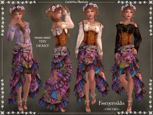 Gypsy Esmeralda Outfit ~ORCHID~ by Caverna Obscura
