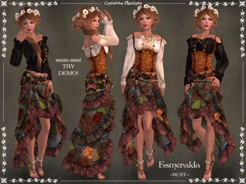 Gypsy Esmeralda Outfit ~RUST~ by Caverna Obscura