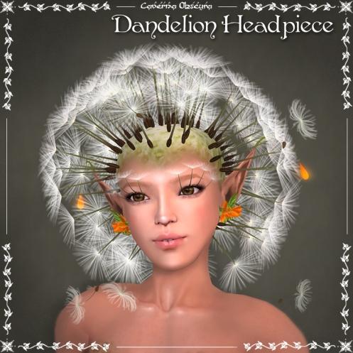 Dandelion Headpiece by Caverna Obscura