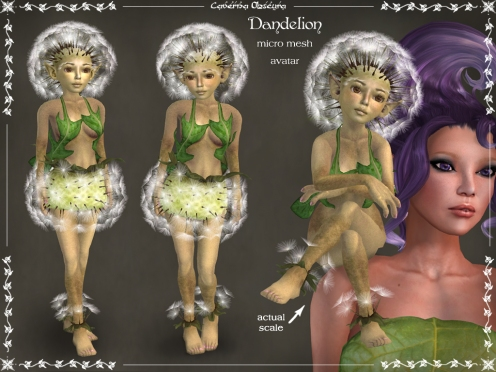 Dandelion Micro Mesh Avatar by Caverna Obscura