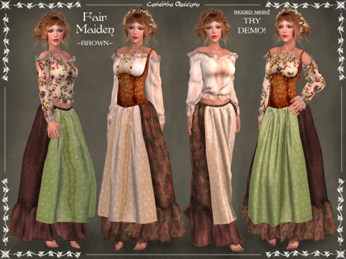 Fair Maiden Outfit ~BROWN~ by Caverna Obscura