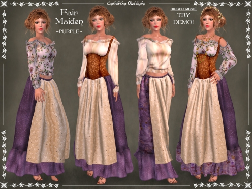 Fair Maiden Outfit ~PURPLE~ by Caverna Obscura
