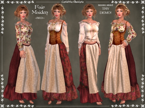 Fair Maiden Outfit ~RED~ by Caverna Obscura