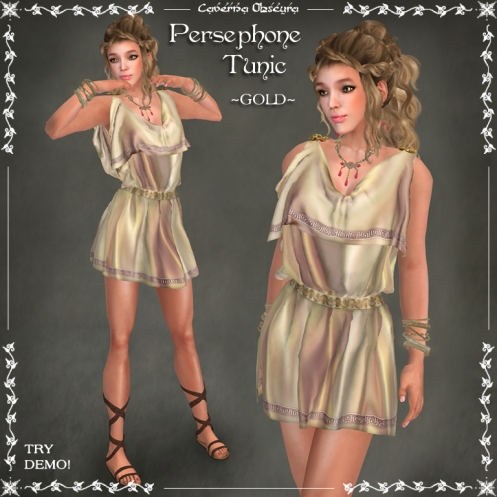 Persephone Tunic ~GOLD~ by Caverna Obscura