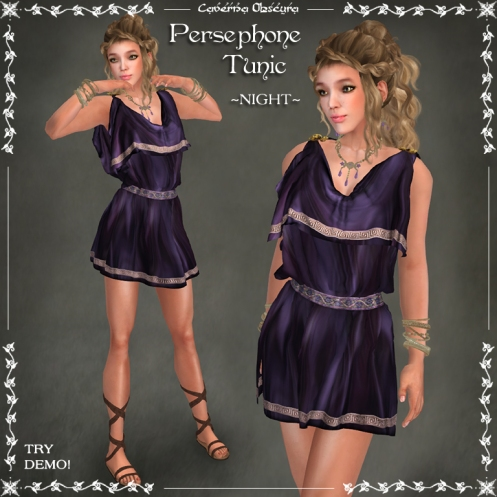 Persephone Tunic ~NIGHT~ by Caverna Obscura