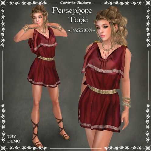 Persephone Tunic ~PASSION~ by Caverna Obscura
