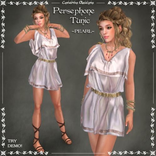 Persephone Tunic ~PEARL~ by Caverna Obscura