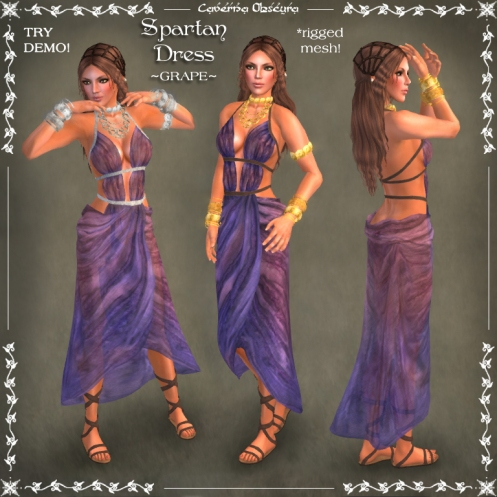 Spartan Dress ~GRAPE~ by Caverna Obscura