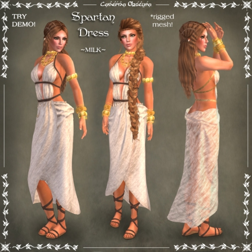 Spartan Dress ~MILK~ by Caverna Obscura