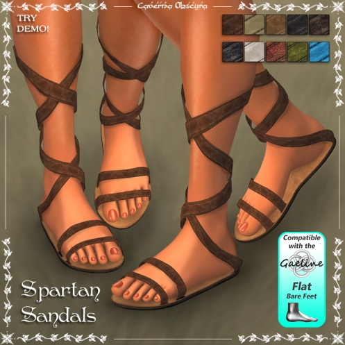 Spartan Sandals by Caverna Obscura