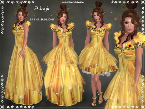 Adagio in the SUNLIGHT Gown by Caverna Obscura
