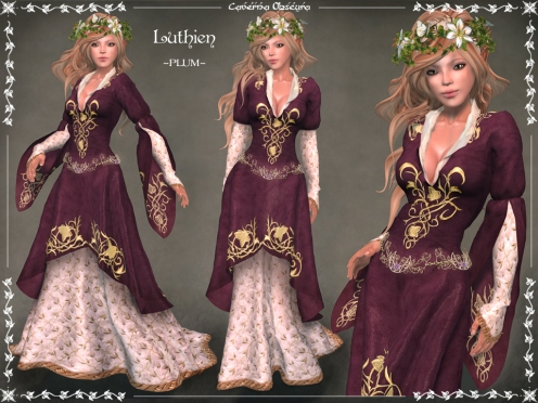 Luthien Gown ~PLUM~ by Caverna Obscura