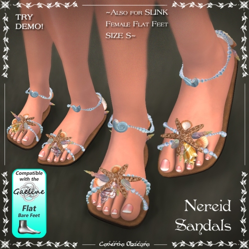 Nereid Sandals by Caverna Obscura