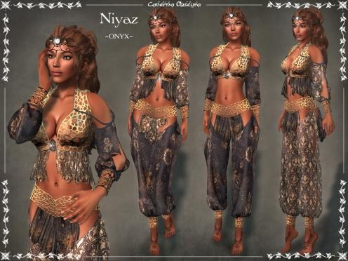 Niyaz Silks ~ONYX~ by Caverna Obscura