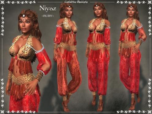 Niyaz Silks ~RUBY~ by Caverna Obscura