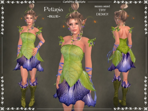Petunia Outfit ~BLUE~ by Caverna Obscura