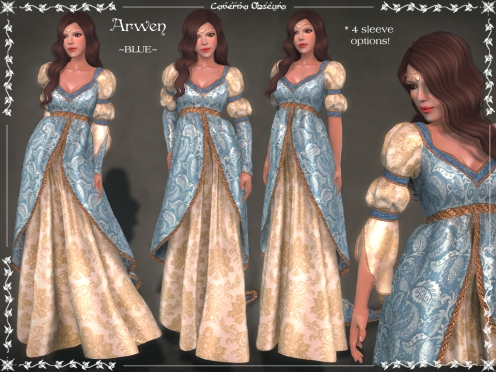 Arwen Gown ~BLUE~ by Caverna Obscura