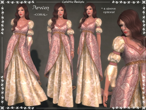 Arwen Gown ~CORAL~ by Caverna Obscura