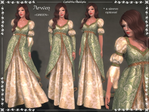 Arwen Gown ~GREEN~ by Caverna Obscura