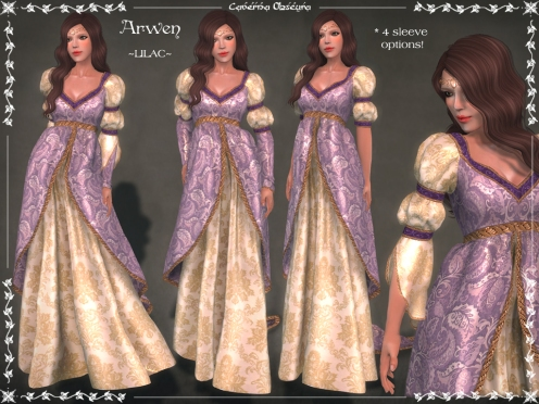 Arwen Gown ~LILAC~ by Caverna Obscura