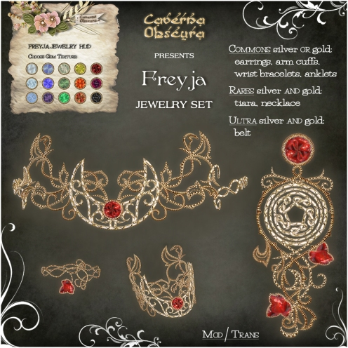 Gacha Freyja Jewelry Items