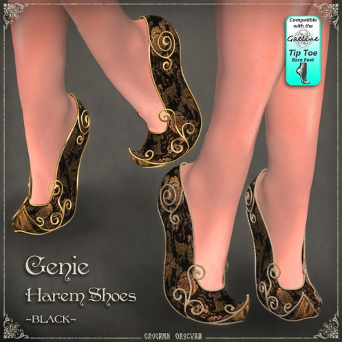 Genie Harem Shoes ~BLACK~ by Caverna Obscura