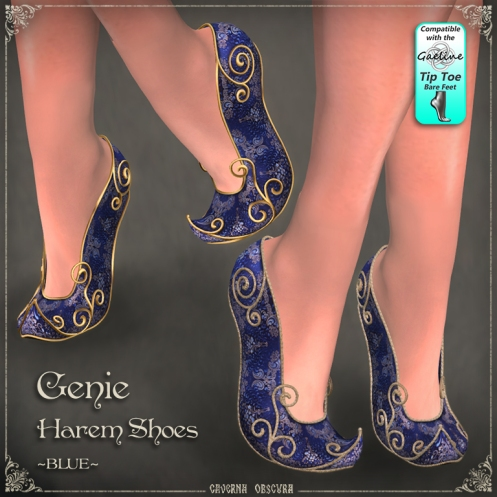 Genie Harem Shoes ~BLUE~ by Caverna Obscura
