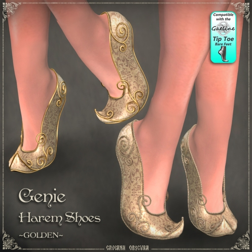 Genie Harem Shoes ~GOLDEN~ by Caverna Obscura