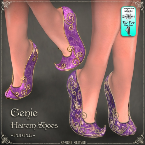 Genie Harem Shoes ~PURPLE~ by Caverna Obscura