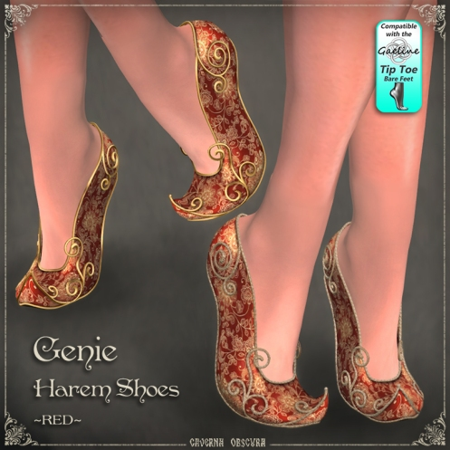 Genie Harem Shoes ~RED~ by Caverna Obscura