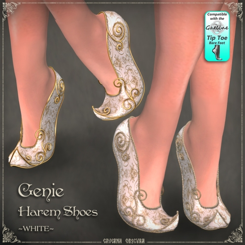 Genie Harem Shoes ~WHITE~ by Caverna Obscura