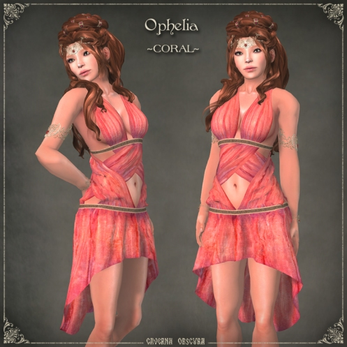 Ophelia Tunic ~CORAL~ by Caverna Obscura