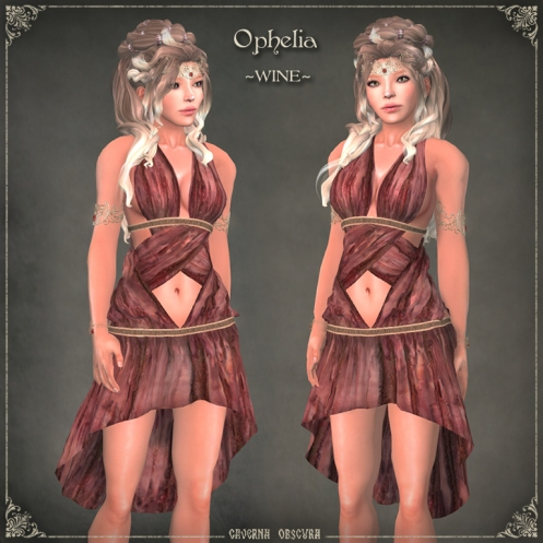 Ophelia Tunic ~WINE~ by Caverna Obscura