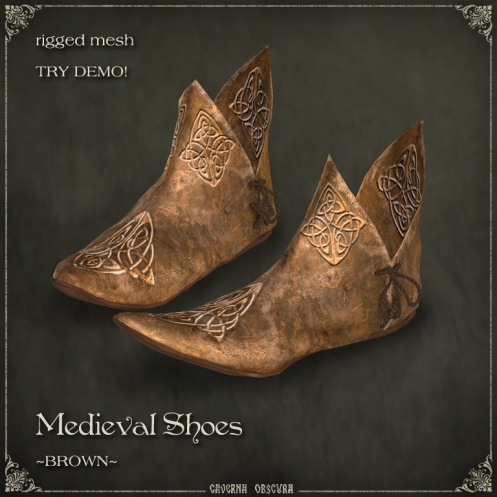 Medieval Shoes ~BROWN~ by Caverna Obscura