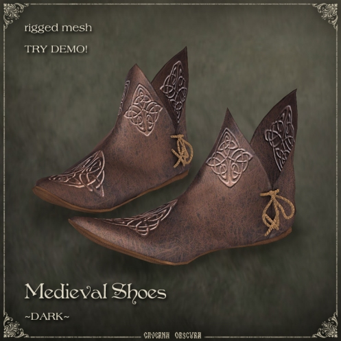 Medieval Shoes ~DARK~ by Caverna Obscura