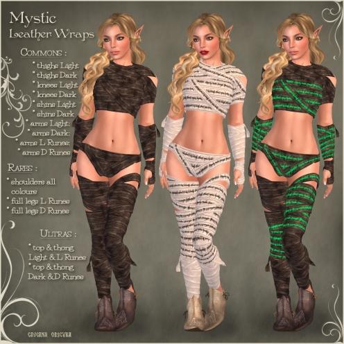 Gacha Mystic Leather Wraps Items