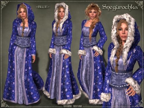 Snegurochka Gown ~BLUE~ by Caverna Obscura