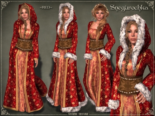 Snegurochka Gown ~RED~ by Caverna Obscura