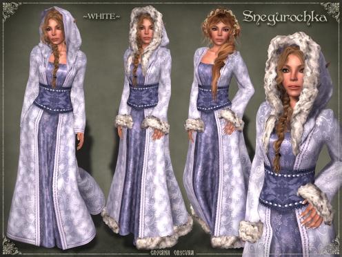 Snegurochka Gown ~WHITE~ by Caverna Obscura