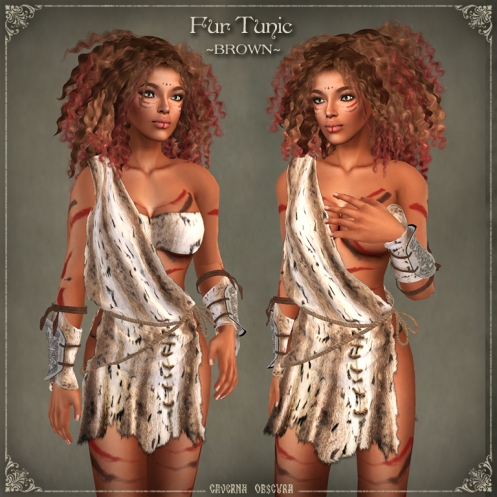 Fur Tunics ~BROWN~ by Caverna Obscura