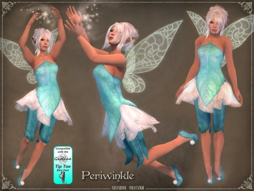 Periwinkle Faerie Outfit by Caverna Obscura