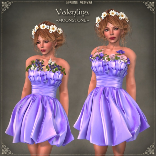 Valentina Dress ~MOONSTONE~ by Caverna Obscura