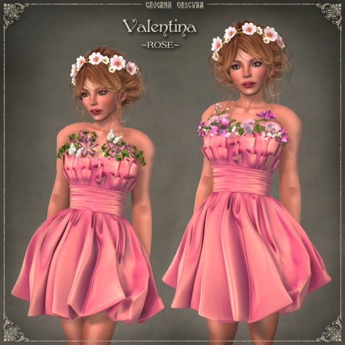 Valentina Dress ~ROSE~ by Caverna Obscura