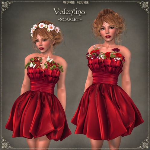 Valentina Dress ~SCARLET~ by Caverna Obscura