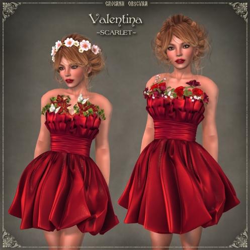 Valentina Dress ~SCARLET~ by Caverna Obscura