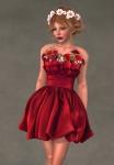 Valentina Dress SCARLET1