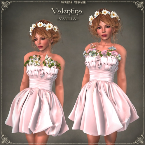 Valentina Dress ~VANILLA~ by Caverna Obscura