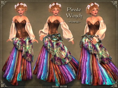 Pirate Wench Outfit *PURPLE* by Caverna Obscura
