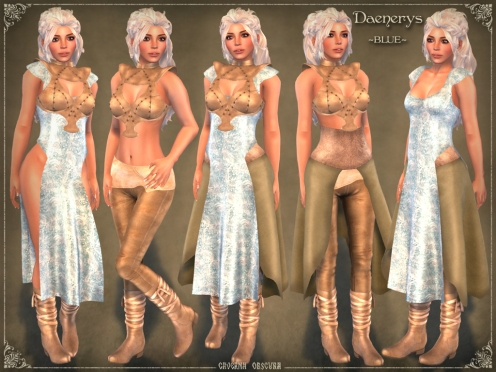 Daenerys Outfit *BLUE* by Caverna Obscura